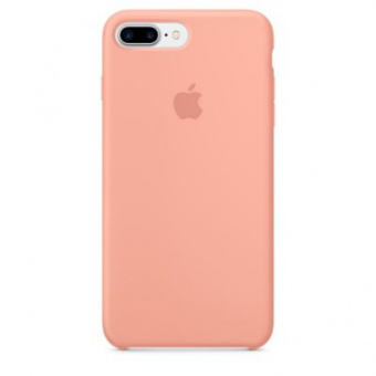 Чехол Silicone Case Original для iPhone 8 Plus (Персиковый)